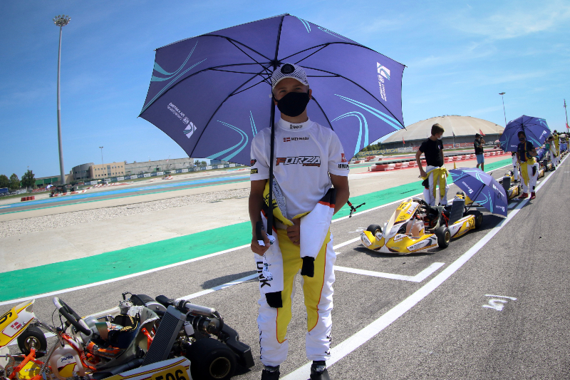 Jonathan Weywadt at the FIA Karting Academy Final Adria 2020