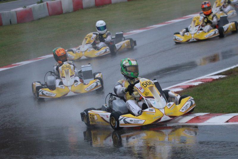 FIA Karting Academy Jonathan Weywadt rain